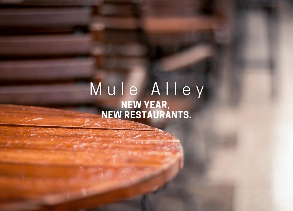 New Shops in Mule Alley